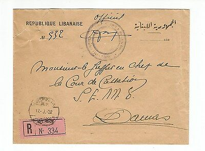 Liban  8 POSTALLY USED OFFICIAL COVERS  -DEFENSE - FINANCE - TOURISM - HEALTH...