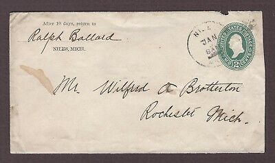 mjstampshobby 1894 US Vintage Cover Used (Lot4861)