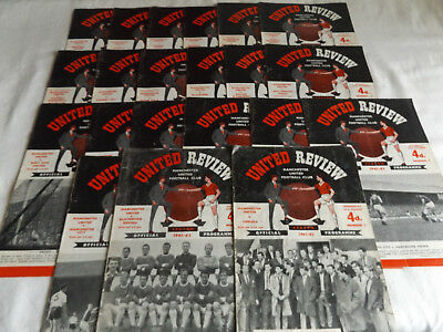Manchester United 1961/1962 Home Programmes