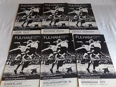 Fulham 1964/1965 Home  Programmes