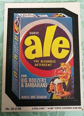 Wacky Packages Topps Sudsy Ale The Alcoholic Detergent Card #32 O-PEE-CHEE 1987