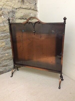 As Found Vintage Copper Freestanding Decorative Fire Guard - Screen