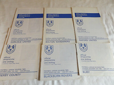 Millwall 1968/1969 Home Programmes