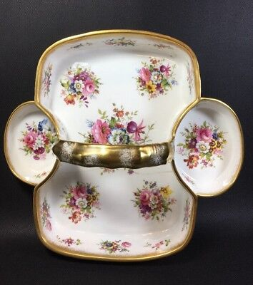 Hammersley Lady Patricia Fine Bone China Strawberry Scone Basket F. Howard 1N