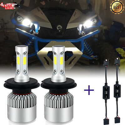 NEW H4 9003 HB2 LED Headlight Bulbs for 2011-2017 Can Am Commanders & Mavericks