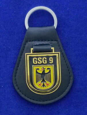 GSG9 Leather Key Ring # German Special Forces # SWAT
