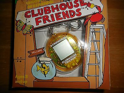 Vintage Clubhouse Friends Virtual Keychain Pocket Game Yellow NR