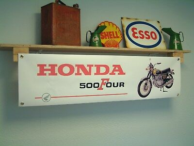 Honda CB500 Four BANNER Motorcycle Workshop Garage