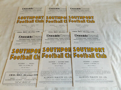 Southport 1973/1974 Home Programmes