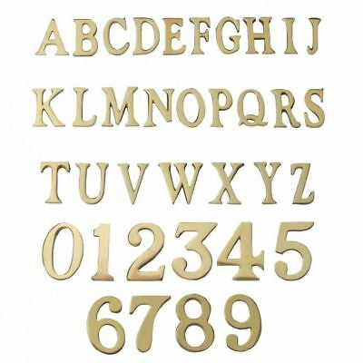 "New 1.5 - 2"" Solid Brass Adhesive Numbers and Letters for House Signs"