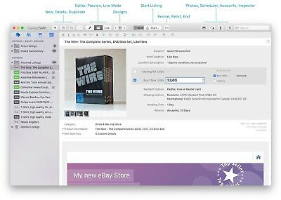 GarageSale - The most advanced eBay seller tool for Mac OS X