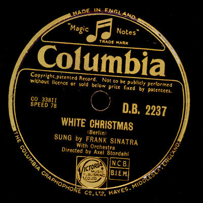 FRANK SINATRA weihnachtlich: White Christmas (seltene Cover-Version) 78rpm S9882