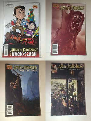 Army of Darkness 4 Comics - Shop Till You Drop Dead From the Ashes vs Hack/Slash