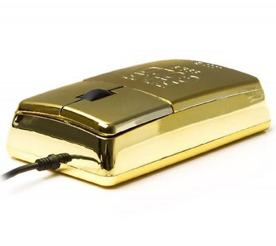 Satzuma USB 'Gold Bar' Mouse - Great Fun Gift - Stocking Filler/ Secret Santa