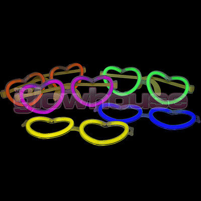 Glow Heart Glow Stick Glasses pack of 50 Glowhouse Brand