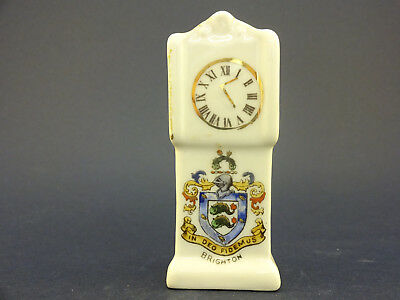 Gemma China Model of a Grandfather Clock with Brighton Crest