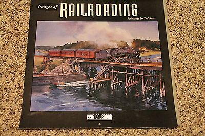 Ted Rose 1996 Calendar Images of Railroading Paintings All Color