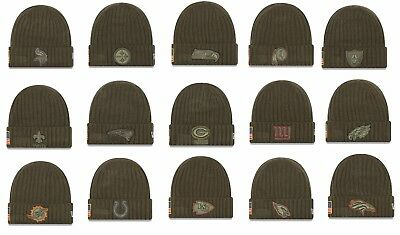 Mens NFL 2017 Salute To Service Knit Hat (Several Teams)