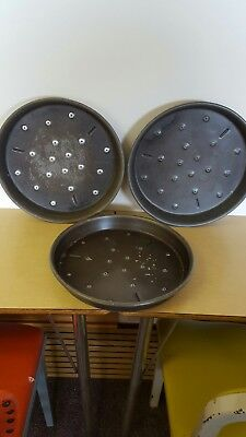 """Lot Of (3) """"domino's Pizza""""  Commercial 12"""" Deep Dish Pizza Pans"""