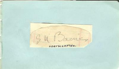 STAN BAINES 1930's> LEICESTER, NORTHAMPTON etc HAND-SIGNED ALBUM PAGE
