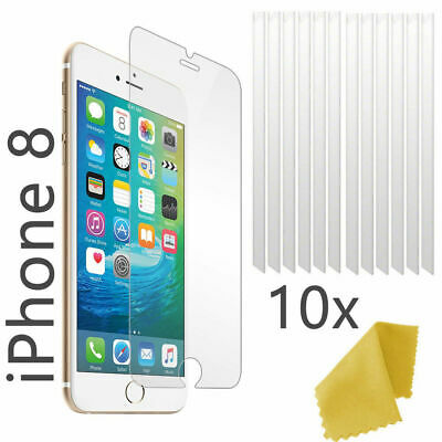 10 Pack - Clear Plastic Screen Guard LCD Protector Film For Apple iPhone 8