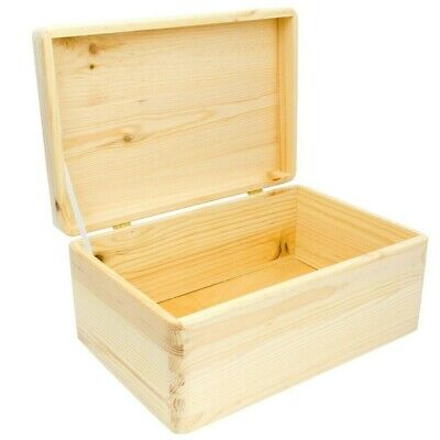 Wooden box with lid, 30x20x14cm, Plain wooden boxes, Wooden Storage Box