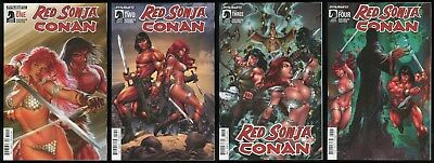 Red Sonja Conan Comic Set 1-2-3-4 Lot Robert E Howard REH Alex Ross cover art