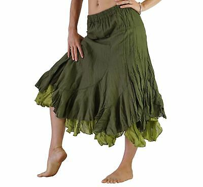 'TWO LAYER SKIRT' Steampunk - GREEN