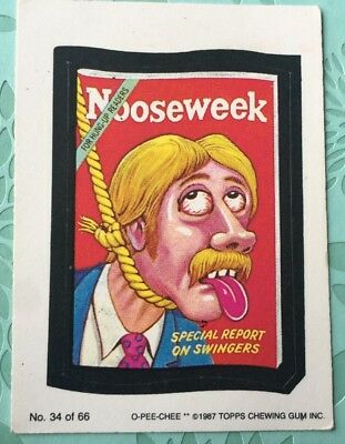 Wacky Packages 1987 Topps Card #34 Noose Week