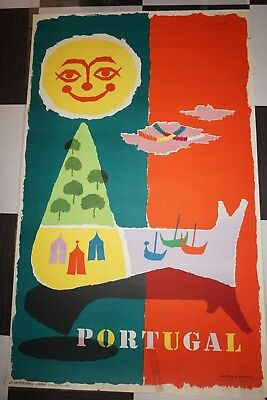 Original vintage poster Portugal by Abram Games 1955