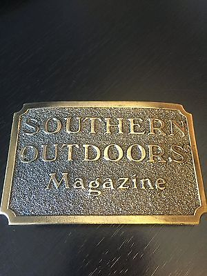 Southern Outdoors Magazine Belt Buckle Ltd Ed 1982 Great American Buckle Co