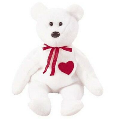 TY Beanie Baby - VALENTINO The White Bear (1994) RETIRED