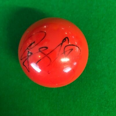 Liang Wenbo Hand Signed Red Snooker Ball.