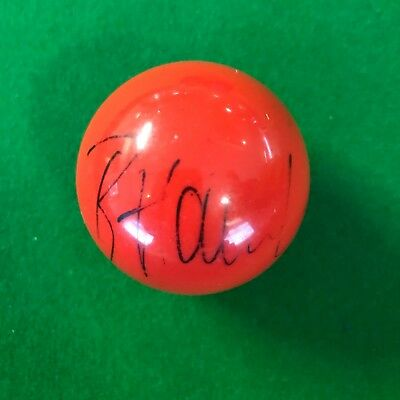 Barry Hawkins Hand Signed Red Snooker Ball.