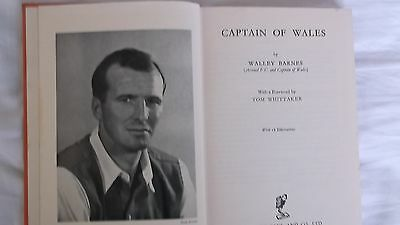 Walley Barnes Signed Captain of Wales Book Arsenal FC VERY RARE 1953