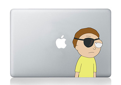 """Evil Morty Rick and Morty ~4x6.5"""" Apple Macbook Laptop Car Bumper Decal Sticker"""