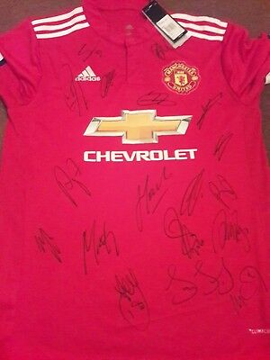 Manchester United Squad Signed shirt -  16/17 - Martial Pogba