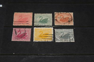 Western Australia Early Collection X 6 All Different    F/u