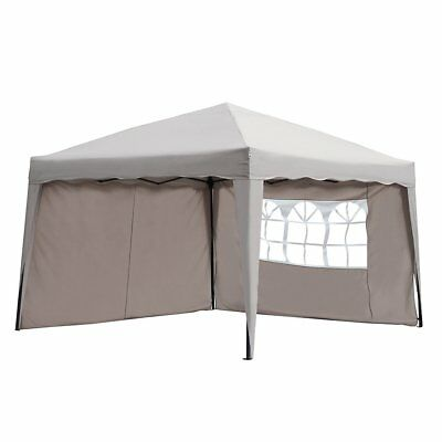Sekey 3x3m Tonnelle, Tente Fête pliante Rétractable Garden Party réception Taupe