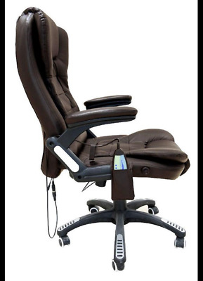 Massage Office Computer Chair Luxury Reclining 6 Point Swivel Faxhunter Leather