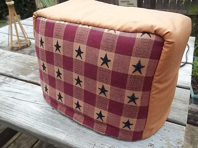Toaster Cover Americana Star Navy Blue Burgundy Gold Fabric Quilted 4 Slice