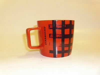 2016 Starbucks Coffee Cup/ Mug 14 fl oz Red With Black Plaid Design,Never Used