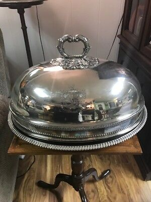 Antique English Silver Plate Meat Cover Circa 1810