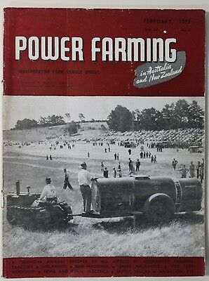 VINTAGE Agriculture: Power Farming Magazine February 1953 Vol 62 No 2, Good