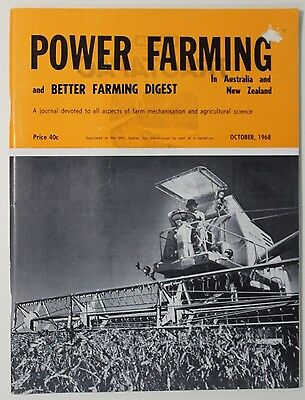 VINTAGE Agriculture: Power Farming Magazine October 1968 Vol 77 No 10, Good