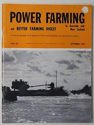 VINTAGE Agriculture: Power Farming Magazine September 1966 Vol 75 No 9, Good