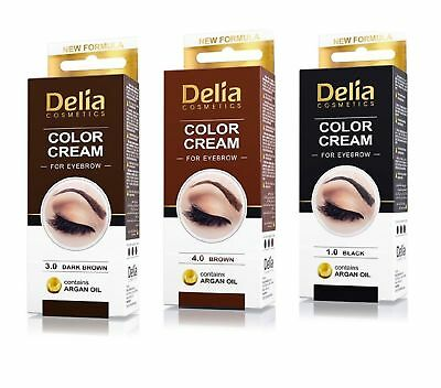 DELIA Henna Color Cream Eyebrow Tint Set Black/ Brown/ Dark Brown