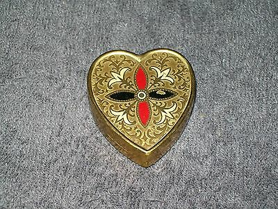 Vintage Brass Heart-Shaped Musicbox - Made In Japan