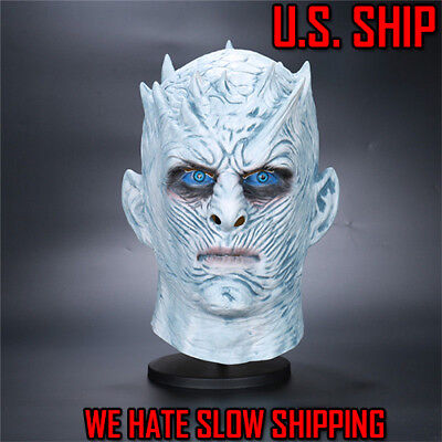Men's Game of Thrones White Walker Full Head Night's King Mask Halloween Costume