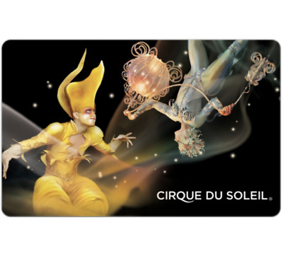 Cirque du Soleil Gift Card - $50 or $100 - Email delivery